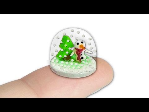 diy - globo di neve in miniatura
