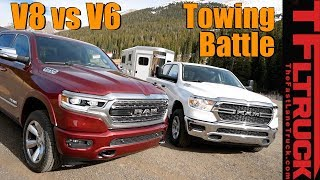 2019 Ram 1500 V6 vs V8 eTorque take on The World's Toughest Towing Test (Ike Gauntlet 2019) by The Fast Lane Truck