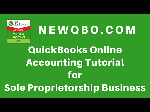 quickbooks online accounting for sole proprietorship business qbo tutorial for beginners