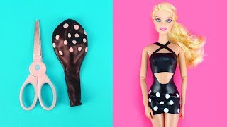 Video 👗 DIY Barbie Dresses with Balloons Part 2 Making Easy No Sew Clothes for Barbies Creative for Kids MP3, 3GP, MP4, WEBM, AVI, FLV September 2018