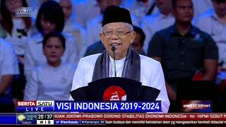 Download Video Pidato Ma'ruf Amin untuk Visi Indonesia 5 Tahun ke Depan MP3 3GP MP4