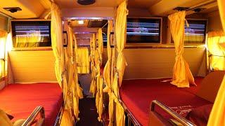 2.Premium Sleeper Bus from Ashok Leyland Veera | Tranz King Travels Luxury Bus Interior & Exterior
