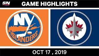 NHL Highlights | Islanders vs Jets – Oct 17 2019 by Sportsnet Canada