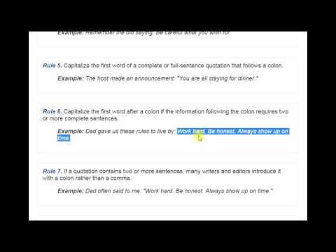 Основы английской пунктуации: когда нужно ставить двоеточие в английском? (видео)