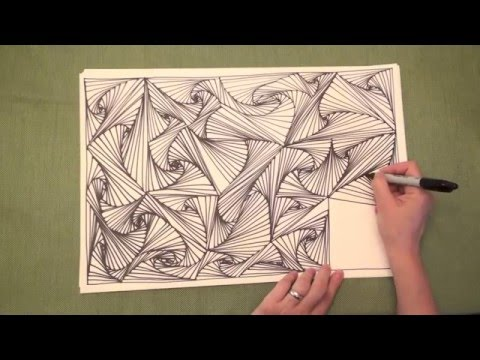 "ASMR: Line Illusions of Zentangle® pattern ""Paradox"""