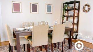Festive Dining Room Makeover I Target's Threshold Line for Home by Tastemade