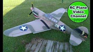 Video vom ersten mal Motor anlassen und dann ein Flug der P-40 Warhawk von ESM mit dem 2 Zylinder Reihenmotor von Roto. Technische Daten: Spannweite: 2210 mm...