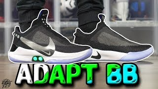 Nike ADAPT BB First Impressions Review! Auto Lacing Shoes!