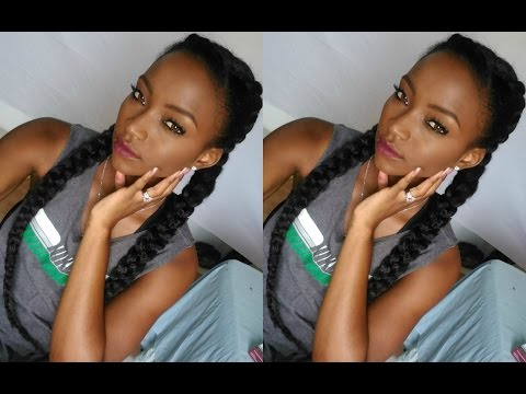 Double Braid Tutorial Heat Proof Hair Makeup For Black Women In