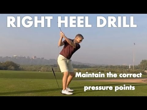 Golf Lesson – Keep The Pressure in Your Right Heel