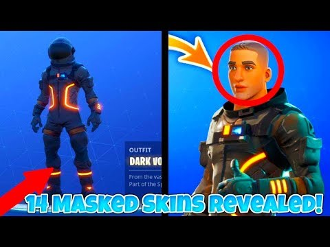 Fortnite 14 Masked Skin Face Reveals - Fortnite Characters Revealed (Fortnite: Battle Royale)