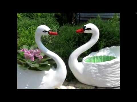 Лебедь из пластиковой бутылки