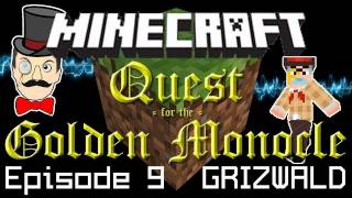 Minecraft Adventure Quest for the Golden Monocle! Minecart Theft&Skull-Duggery! PART 9