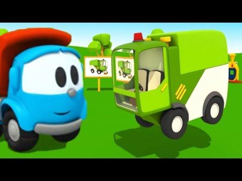 Die Straße ist schmutzig! Leo Junior und die Kehrmaschine - Tolle 3D Animation in deutsch