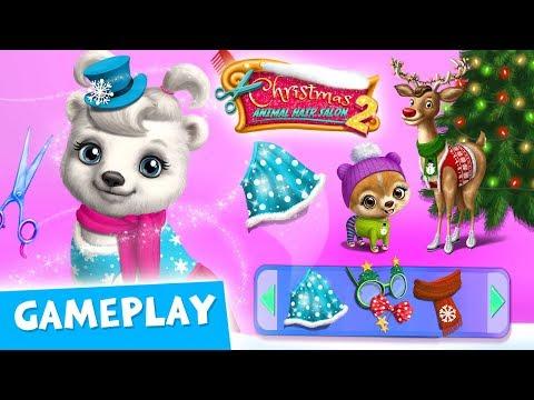 Cute Pets Prepare for Xmas! Christmas Animal Hair Salon 2 Gameplay  TutoTOONS Cartoons & Kids Games