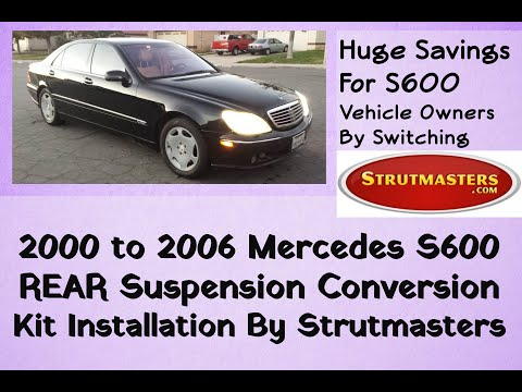 2000-2006 Mercedes S 600 Rear Air Suspension Conversion Installation