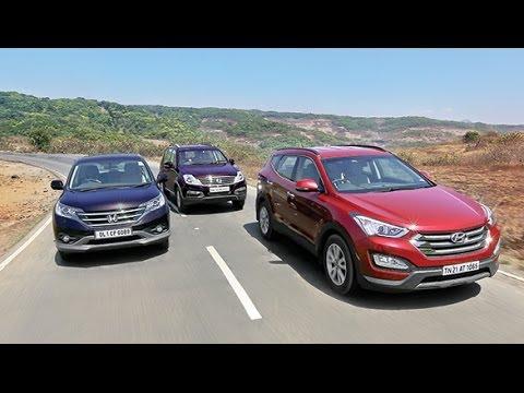 OVERDRIVE Comparo - 2014 Hyundai SantaFe vs Honda CR-V vs Ssangyong