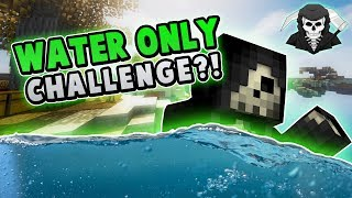 THE WATER ONLY CHALLENGE + BANNED HACKER?! ( Hypixel Skywars )