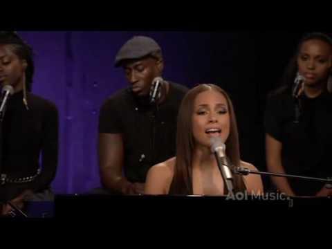 Alicia Keys - Fallin LIVE @ AOL Sessions