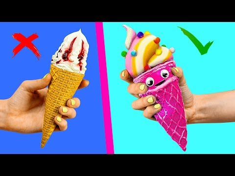 Moustache - Cartoon Food vs Real Food Challenge / Squishy Burger