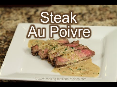 Best Steak Au Poivre | Pepper Steak With Cognac Cream Sauce | Rockin Robin Cooks