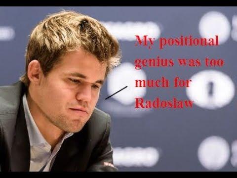 Magnus Carlsen Vs. Radoslaw Wojtaszek 1-0, Tromso Olympiad 2014 Round 4
