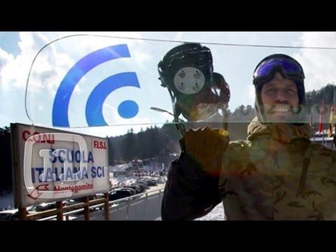 Surfeando con un snowboard de cristal
