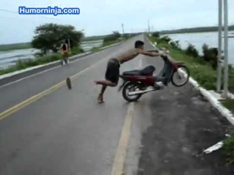 Bike throws rider over cliff