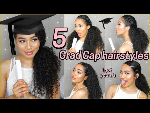 Curly hairstyles - 5 BEST GRADUATION HAIRSTYLES FOR CURLY HAIR - Lana Summer