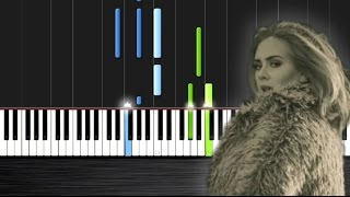 Adele - Hello - Piano Cover/Tutorial  Ноты и М�Д� (MIDI) можем выслать Вам (Sheet music for piano)