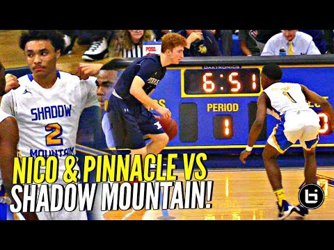 Nico Mannion Meets Shadow Mountain's DEFENSE!! Pinnacle Puts UP a FIGHT But Snatch Bros Too Much!!! (видео)