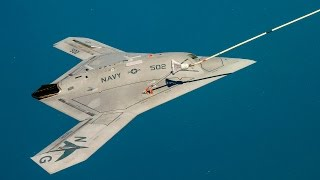 US Navy X-47B stealth aircraft