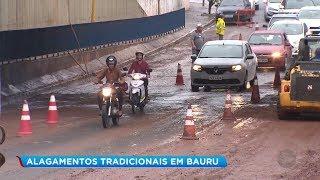 Chuva forte causa alagamentos e prejuízo em Bauru