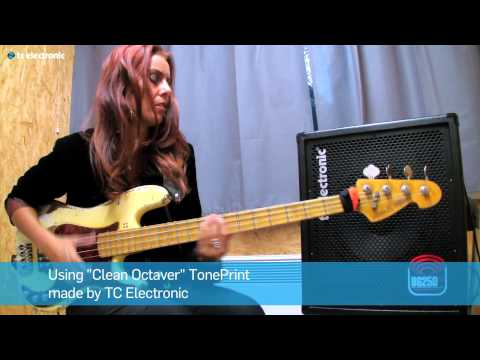 "Ida Nielsen (3RDEYEGIRL & NPG) plays BG250-112 combo using ""Clean Octaver"" TonePrint."