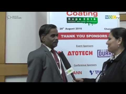 Dr U Kamachi Mudali (IGCAR) at Surface & Coating Expo 2016