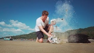 Join me as a fly (and crash) my Phantom 3 for the first time on a beach in Thailand.