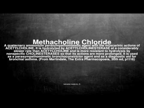 Medical vocabulary: What does Methacholine Chloride mean
