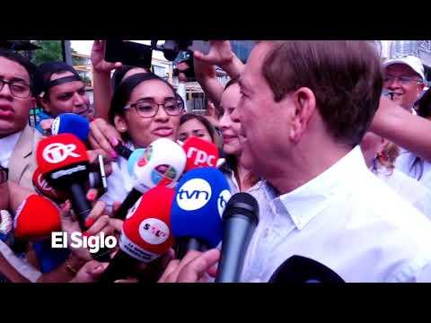 Entre una gran multitud, 'Nito' Cortizo, llega a votar y promete erradicar la corrupción