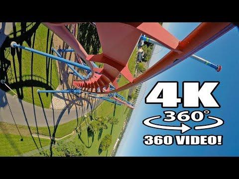 Patriot Roller Coaster VR 360 POV Worlds of Fun MO