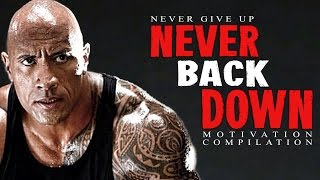 NEVER BACK DOWN! The 6th Ultimate 30-Minute Motivational Speech Compilation is here! After watching 100's of videos I have hand selected the best Motivational Videos that I have ever heard and that I continue to listen to every day to get motivated!I hope this compilation will inspire you and motivate you! If you liked it please like, comment, and subscribe as it really helps! Thank You for watching!BEST EVER #4: http://bit.ly/BestMotivationEverBEST EVER #5: http://bit.ly/WhereDidDreamGoWHAT'S YOUR WHY: http://bit.ly/FindAWhyNO EXCUSES: http://bit.ly/2pxdrIJ✉ ✉ALSO if you could turn on notifications (bell beside the subscribe button) to be notified about new videos that would be great!! ✉ ✉▂▂▂▂▂▂▂▂▂▂▂▂▂☛Follow us to keep Motivated:✔FACEBOOK: https://www.facebook.com/Motiversity/✔INSTAGRAM: https://www.instagram.com/motiversity/✔TWITTER: https://twitter.com/motiversity_✔OFFICIAL WEBSITE: https://www.motiversity.com/▂▂▂▂▂▂▂▂▂▂▂▂▂Speakers:Mickey RourkeWill SmithLes BrownJohn CenaAndy FrisellaEric ThomasLes BrownGreg PlittAnthony RobbinsCoach Hite (https://www.youtube.com/user/CoachHite)Les BrownSean CombsDivine DestinyJaret Grossman (https://www.youtube.com/user/MuscleProdigyTV)▂▂▂▂▂▂▂▂▂▂▂▂▂Creator - Video/Speech Used:Never Give Up - Ben Lionel Scotthttps://www.youtube.com/watch?v=PjP9r-HU4fkNever Give Up - Motiversity (Part 1)https://www.youtube.com/watch?v=ib0XqSSzw9gFind Your Strength - Be Inspiredhttps://www.youtube.com/watch?v=h3cWNsklM90&t=247sRocky - Motiversity (Unreleased)Never Give Up On Yourself - Video Advicehttps://www.youtube.com/watch?v=pI_cCRXQQTcBest Motivational Speeches Compilation for Success in Life - 24 Physic (Part 1)https://www.youtube.com/watch?v=BzZ3k3NmhLMStop Wasting Time - Motivation2Studyhttps://www.youtube.com/watch?v=z3FA2kALScU&t=6sNever Give Up - Motiversity (Part 2)https://www.youtube.com/watch?v=ib0XqSSzw9gBest Motivational Speeches Compilation for Success in Life - 24 Physic (Part 2)https://www.youtube.com/watch?v=BzZ3k3NmhLM▂▂▂▂▂▂▂