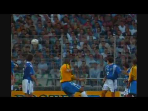 carlos - 1. Brazil vs France, Roberto Carlos amazing swerve free kick goal against France 1997 2. Copa del Rey: Tenerife vs Real Madrid - 21st February 1998 3. Corint...