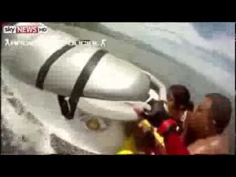 Amazing Brazilian Firefighter's Jet Ski Rescue Of Drowning Family