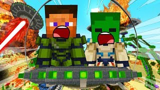 ESCAPE THE ALIEN INVASION - MINECRAFT STEVE AND BABY ZOMBIE [21]