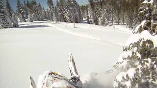 2. ski doo summit 800r XP xrs hillclimb Edition hill climbing fresh snow side hilling side hill