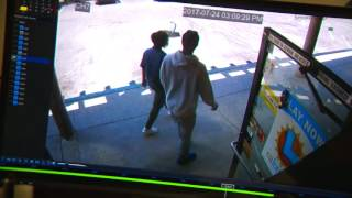 A father was arrested after he was seen on surveillance video abandoning his newborn in a Suisun City strip mall, police said.Subscribe to KCRA on YouTube now for more: http://bit.ly/1kjRAAnGet more Sacramento news: http://kcra.com/Like us:http://facebook.com/KCRA3Follow us: http://twitter.com/kcranewsGGoogle+: http://plus.google.com/+kcra