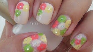 Nail Art - Think Spring Flowers - Decoracion de Uñas - YouTube