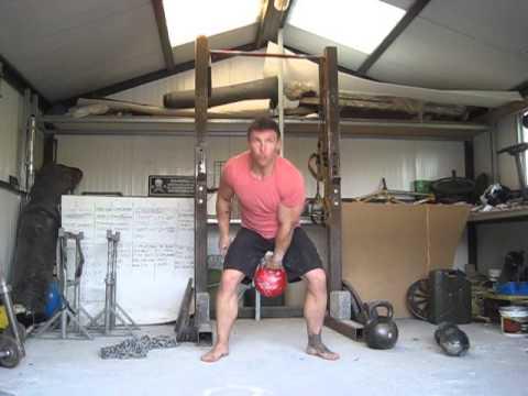 Commando snatch test, 32kg, 5 mins,100 reps