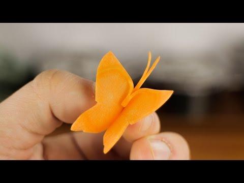 Как сделать бабочку из моркови 189
