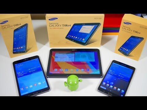Samsung Galaxy Tab 4 7.0, 8.0 & 10.1: Unboxing & Review [4K]