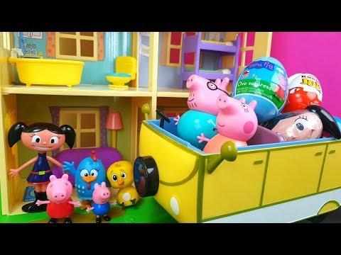 Historinha Peppa Pig Galinha Pintadinha e Luna Ganham Presentes Do Papai Pig